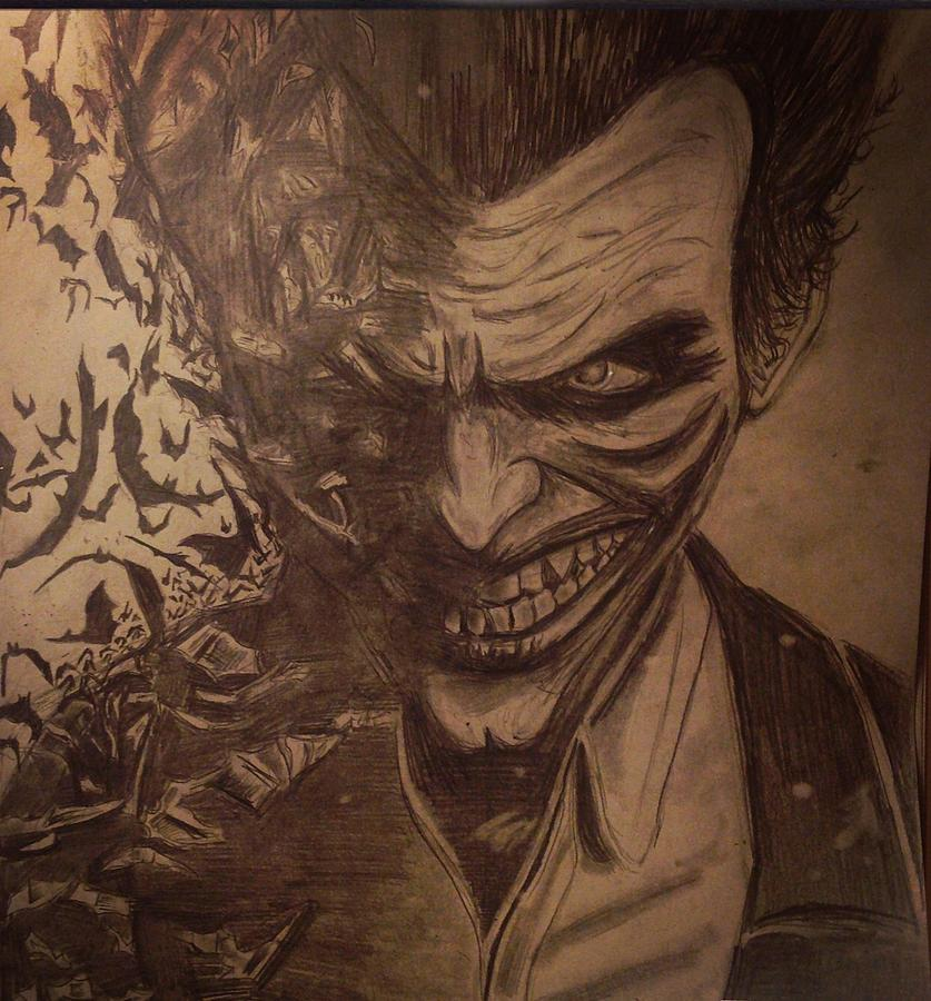 837x900 Joker Batman Arkham Origins Drawing By Julie Leone