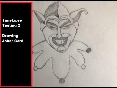 480x360 Drawing Timelapse Joker Card