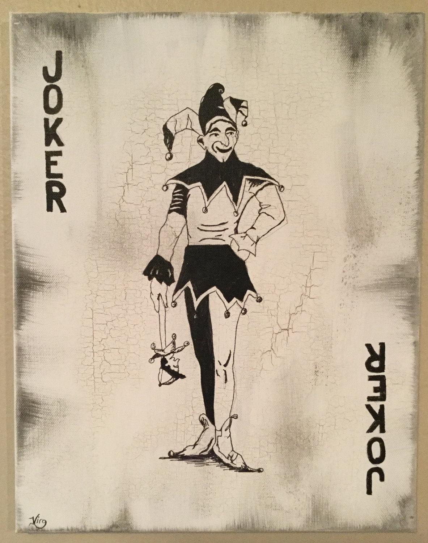 1183x1500 Joker Art Joker Card Playing Cards Art Original Man Cave Art