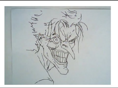 480x360 How To Draw Faces (The Joker, Ep 2) (Comic Book Style)