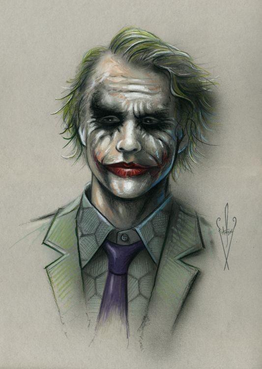 533x750 Joker Drawing 12 X 18