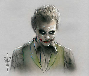 300x257 Joker Drawing 12 X 18 Dark Knightatman Rises