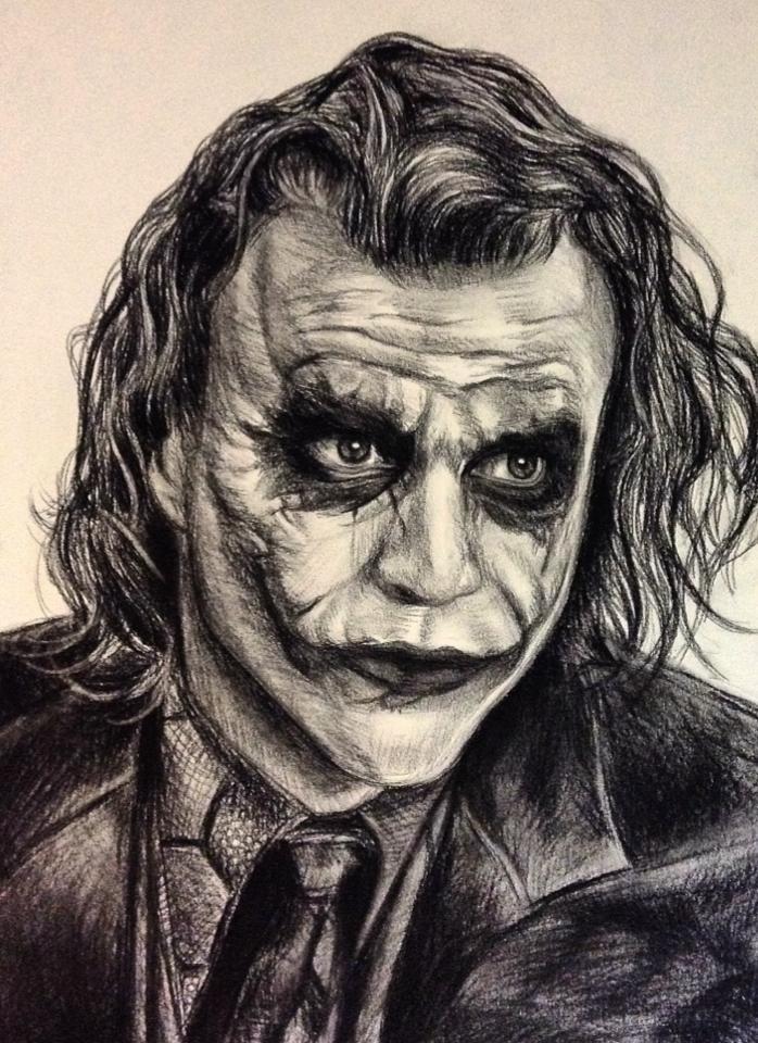 698x960 Joker Charcoal Drawing By Komodokid45