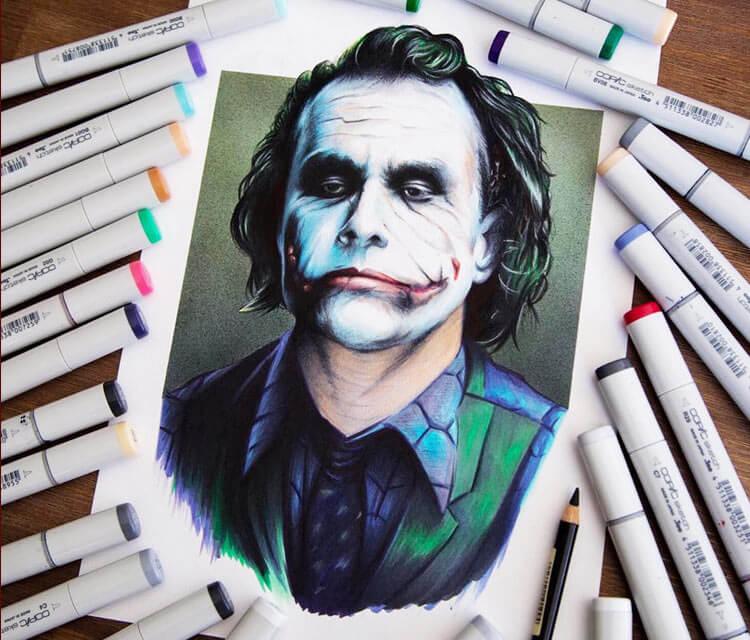 750x640 Joker Drawing By Stephen Ward No. 3212