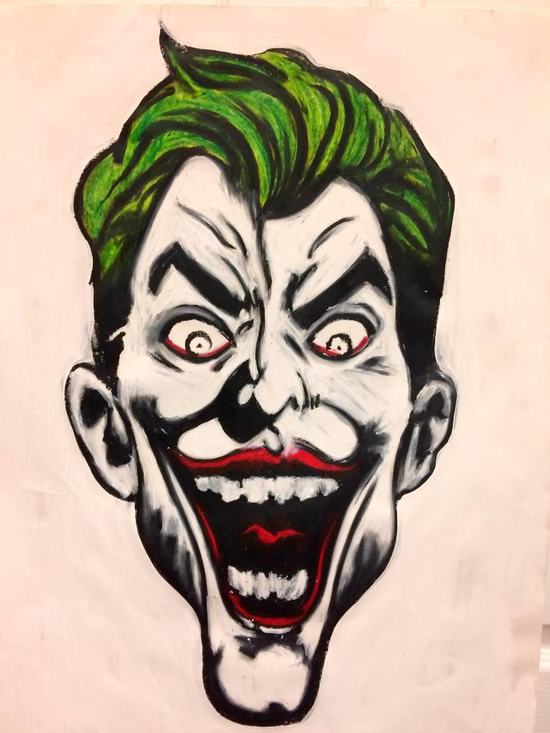 770x1027 Saatchi Art Joker Drawing By Cresencio Cruz