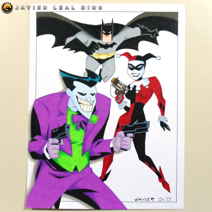 709x709 Drawing The Joker, Harley Quinn And Batman By Neokoi