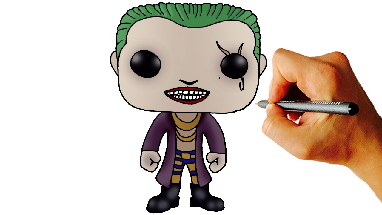1280x720 How To Draw Joker (Chibi) From Suicide Squad Step By Step Drawing
