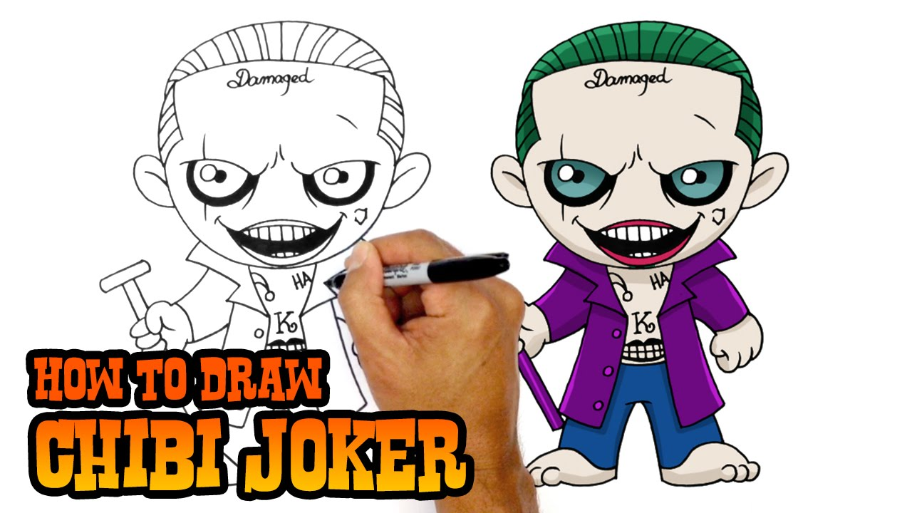 1280x720 How To Draw Joker Suicide Squad