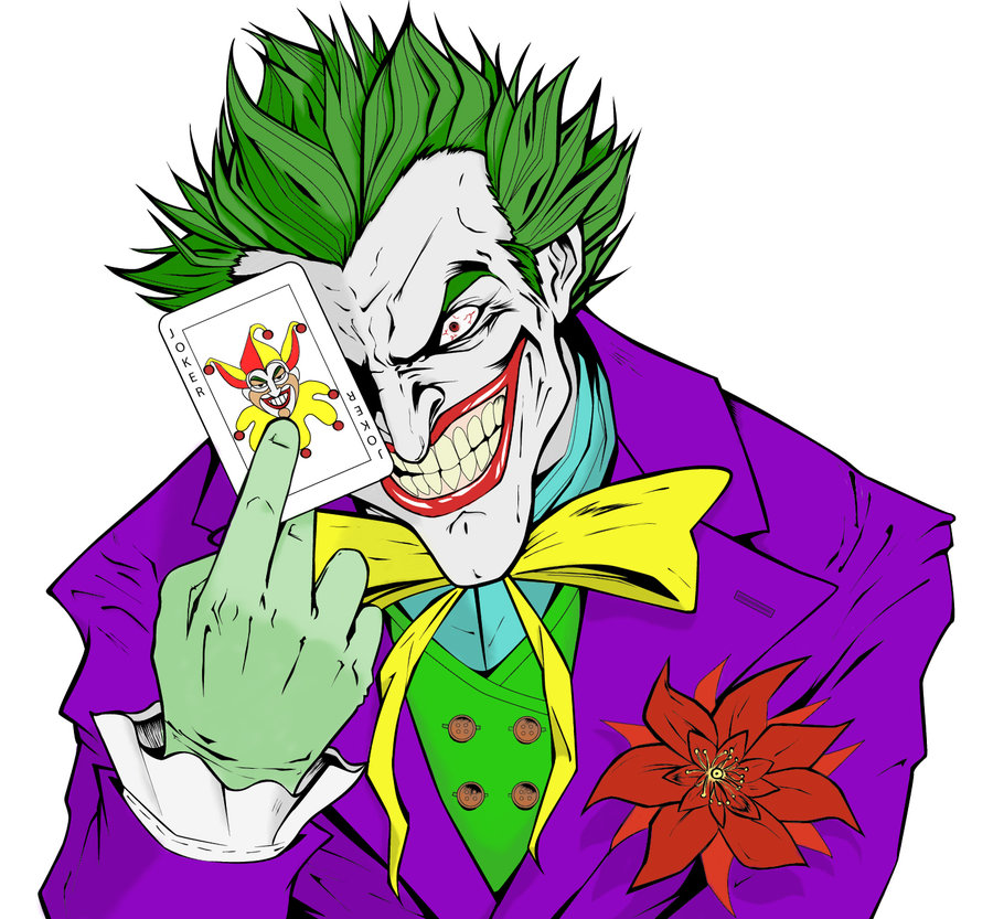 900x833 The Joker Colour By Bigbluecloud