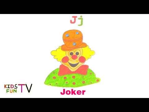 480x360 Coloring Pages For Kids Fun Learning How To Color Joker Drawing