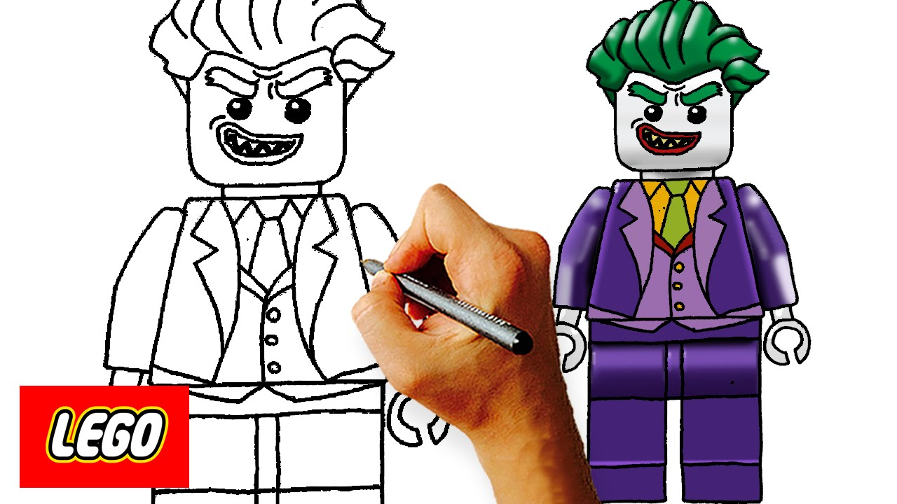 1280x720 How To Draw Lego Joker Step By Step Kids Art Lesson