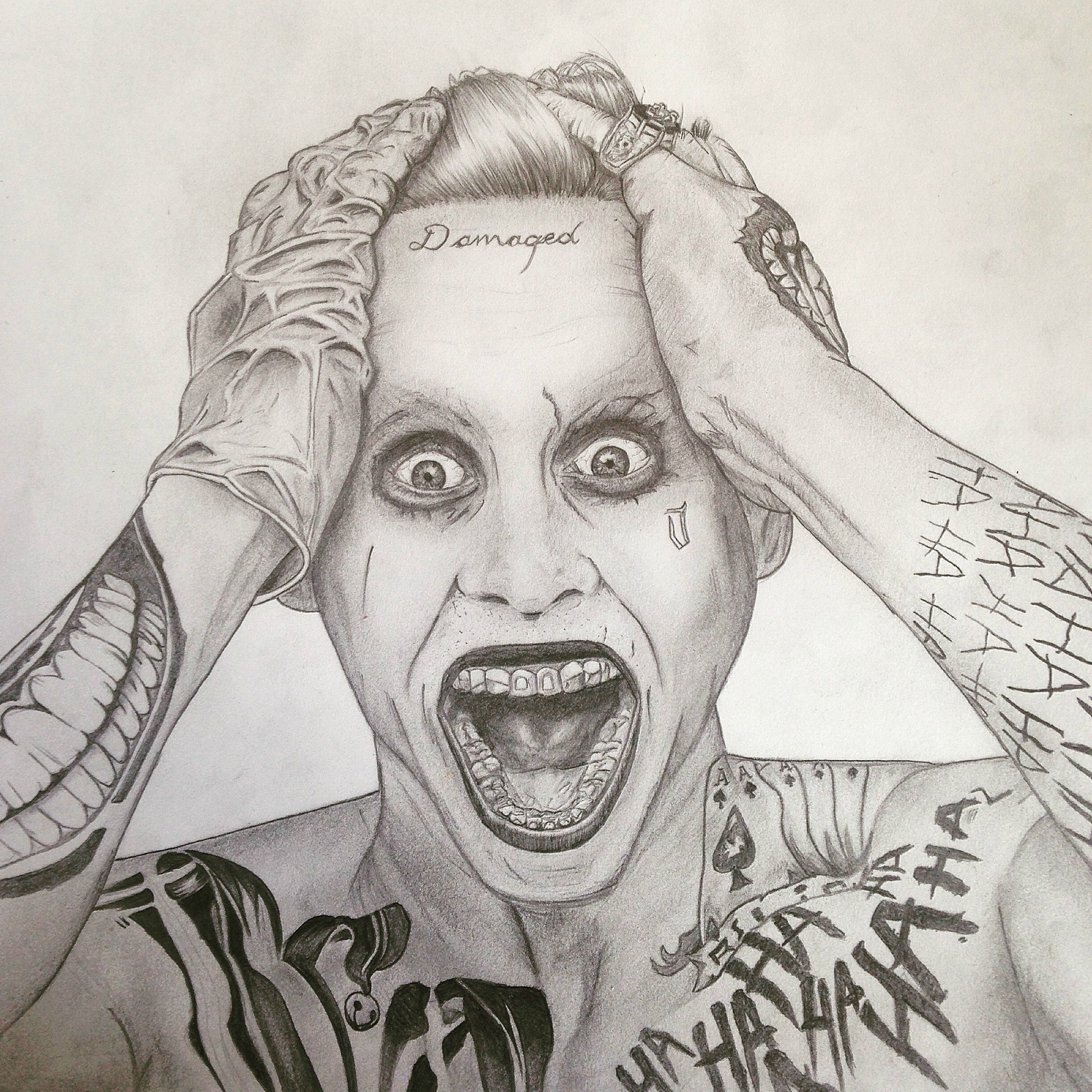 2448x2448 Jared Leto As The Joker Drawing !