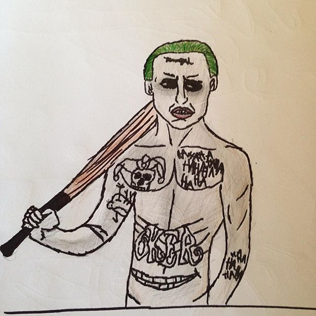 640x640 Joker Drawing By Bethaniehanson