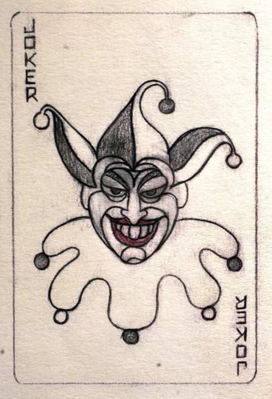 550x806 The First Ever Drawing Of Batman's Nemesis The Joker Bit Rebels