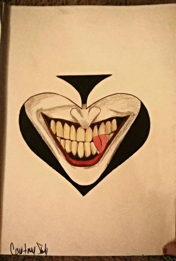 600x892 The Joker Drawing By Cshell06