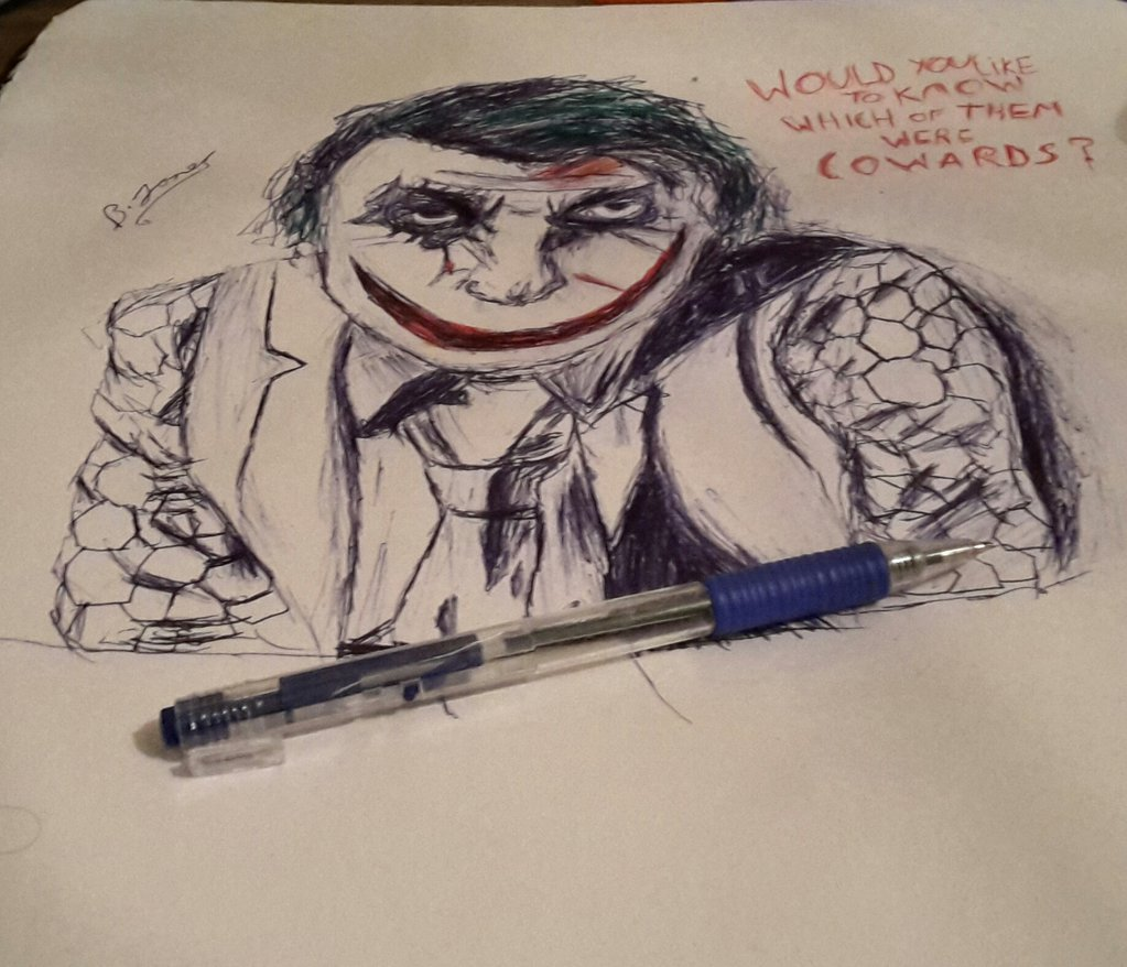 1023x878 Drawing Of The Joker By Artisticwizard79