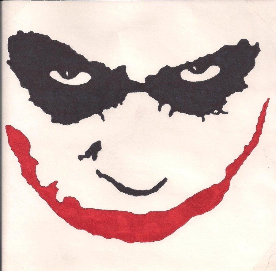 901x887 Joker Face By Pikklz On DeviantArt