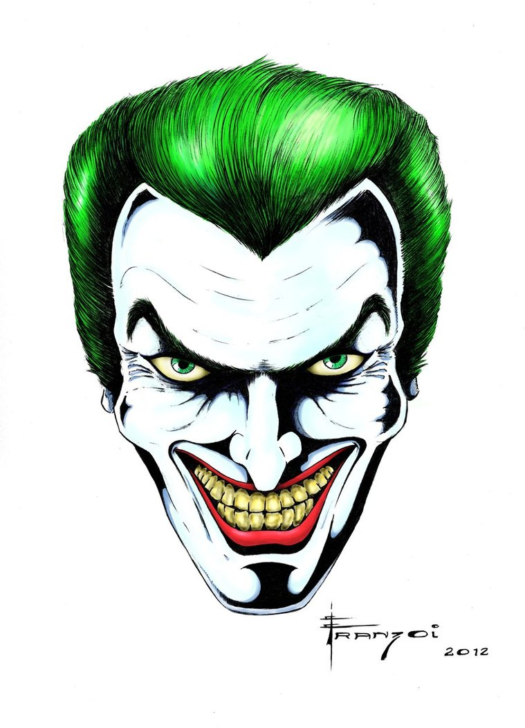 Joker Face Drawing At GetDrawings