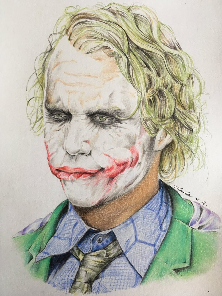 Joker Heath Ledger Drawing At Getdrawings Com Free For