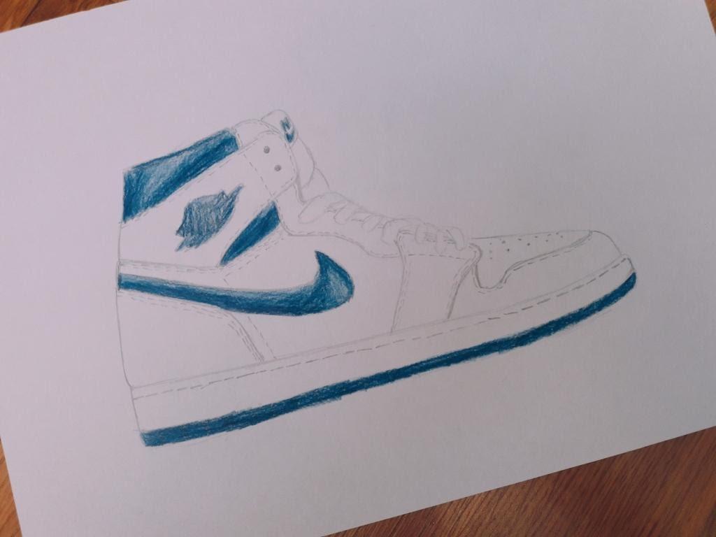 1024x768 Air Jordan 1 Drawing
