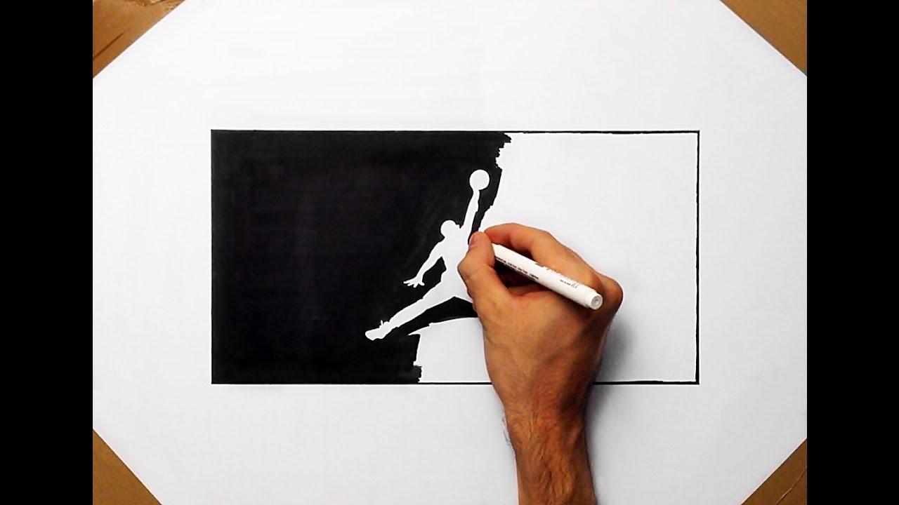 1280x720 How To Draw The Jordan Logo By Denis