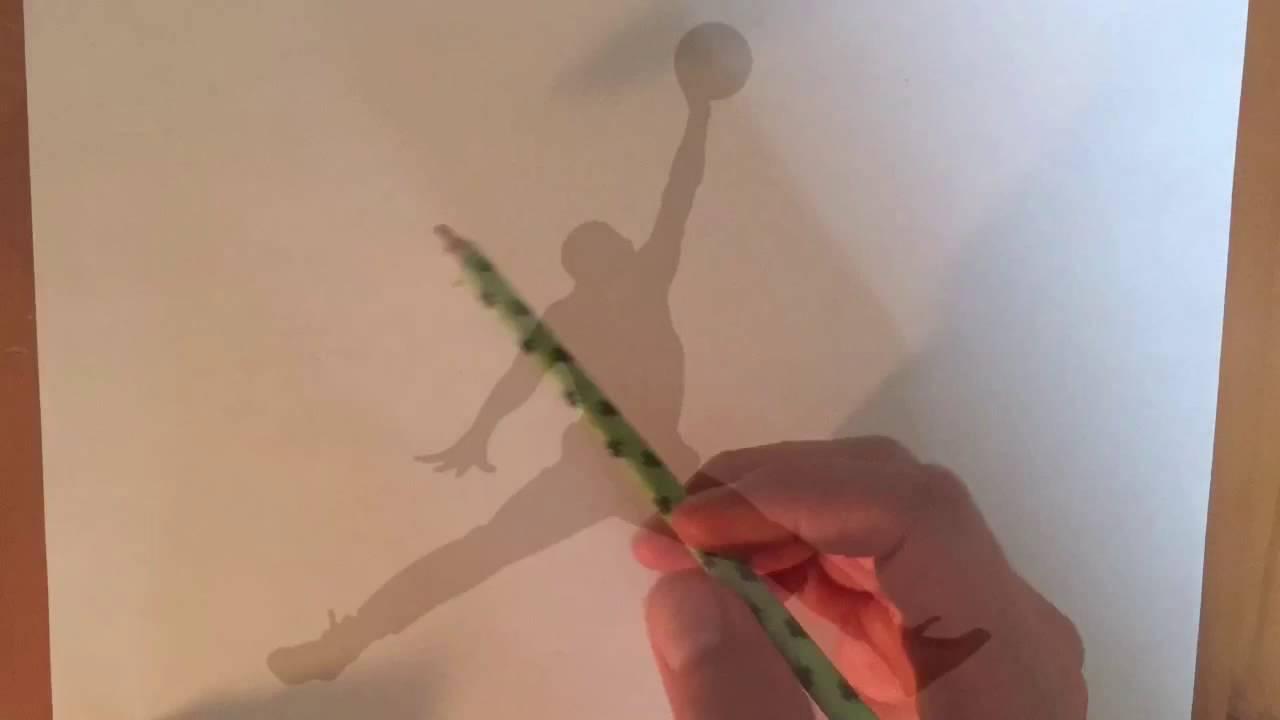 1280x720 How To Draw !! Jordan Logo !! Time Lapse