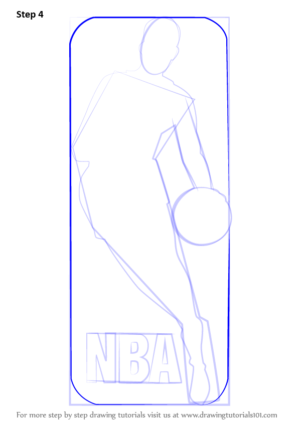 596x842 Learn How To Draw Nba Logo (Nba) Step By Step Drawing Tutorials