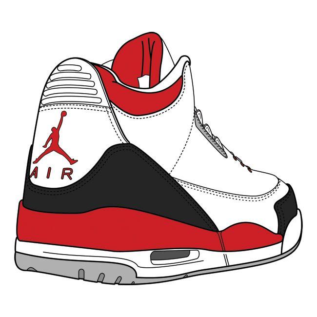 650x650 S Jordan Shoes Drawings Clipart