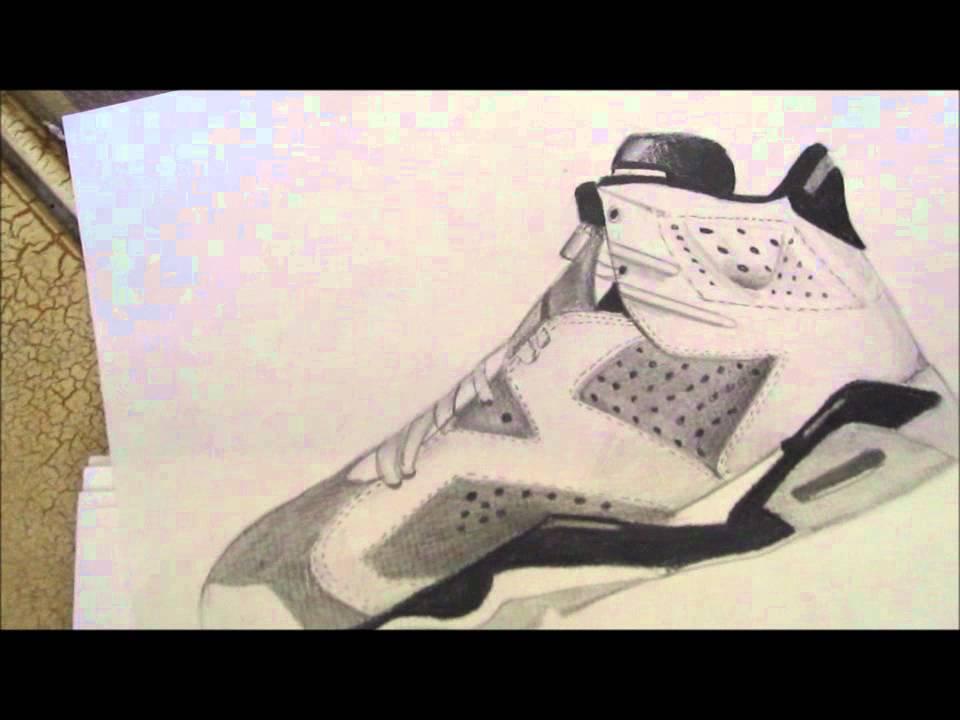 960x720 Amazing Hand Drawing Of Jordan Retro 5amp6!!