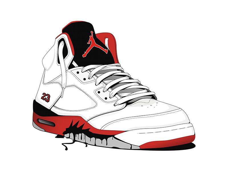 800x600 Jordan Shoe Illustration By Andreja Popovic