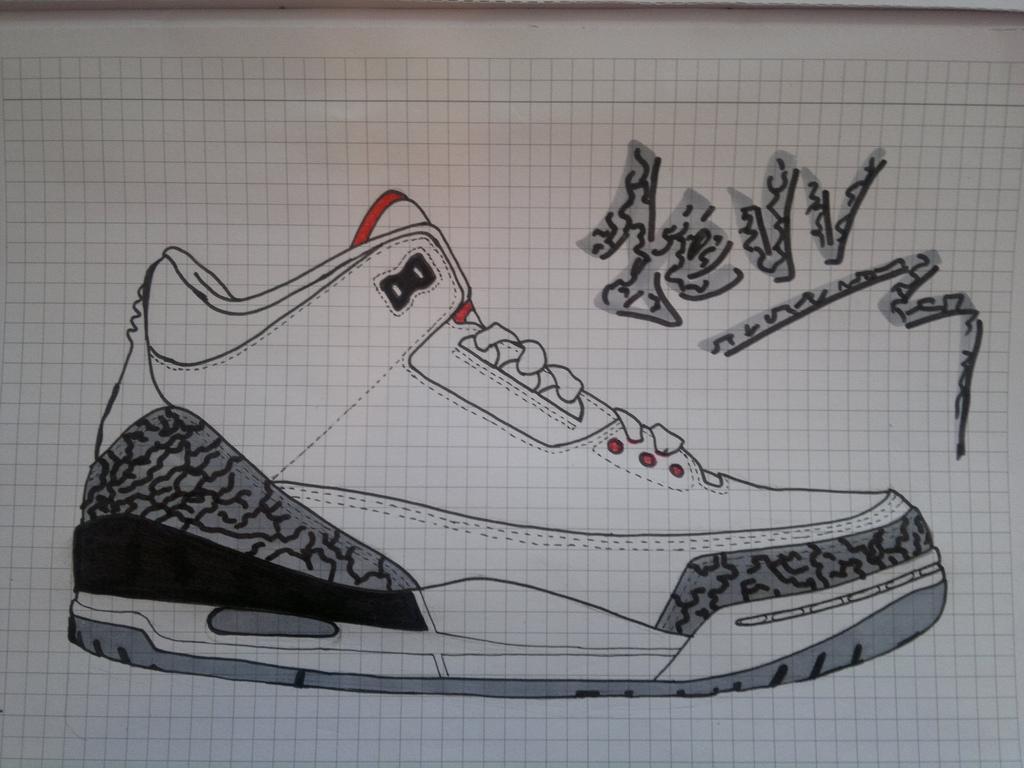 1024x768 Jordan 3 Drawing