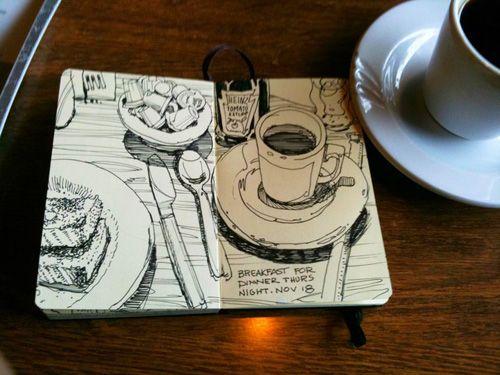 500x375 Graham Smith Restaurant Sketchbook Lots Of Good Art Journal