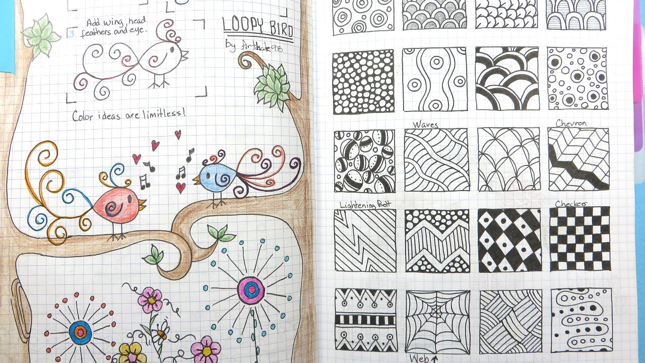 1280x720 My Go To Doodle Drawing Journal Flip Through
