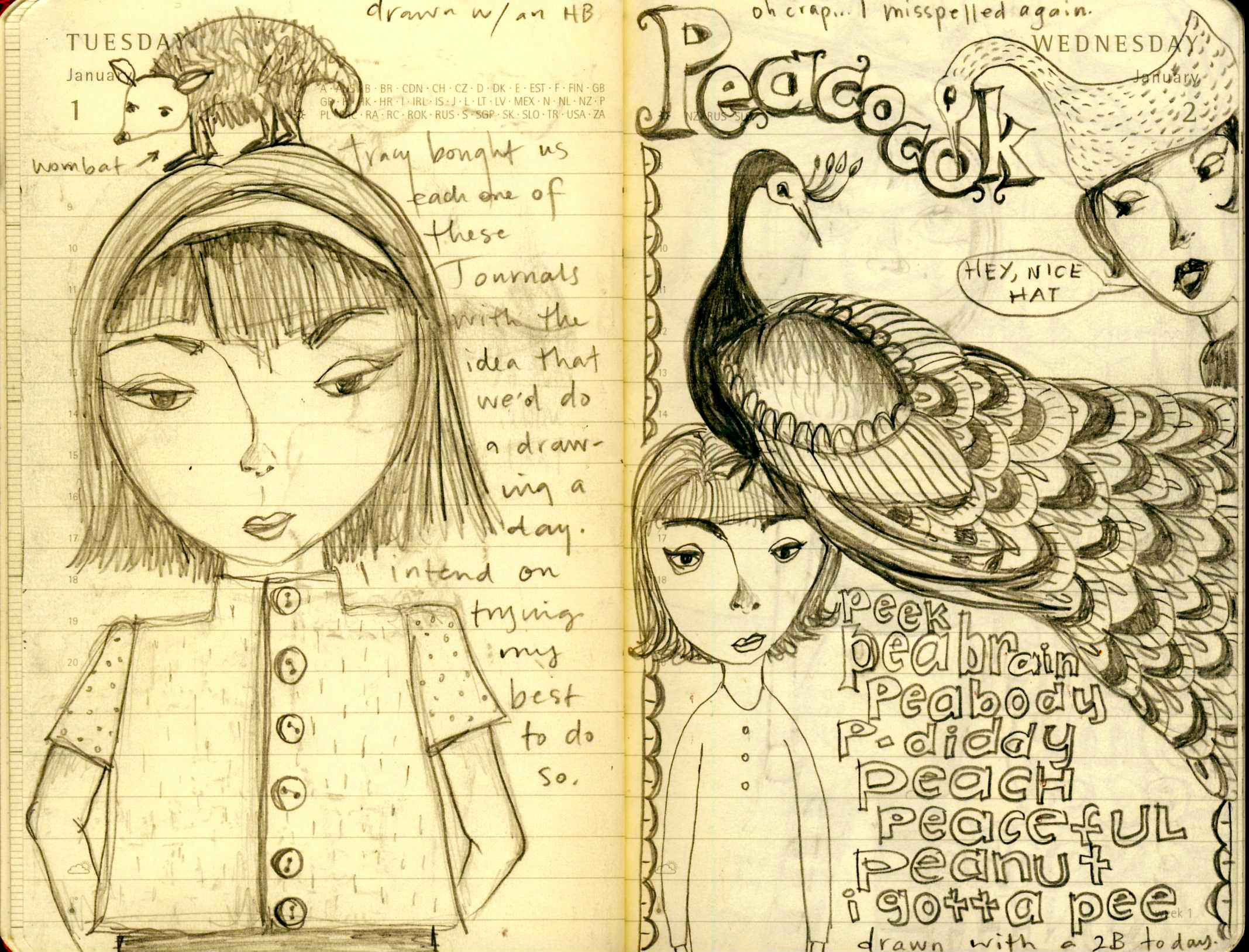 2135x1628 Teesha Moore Drawing Journals
