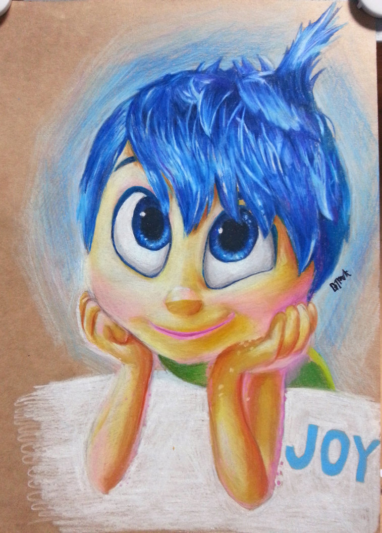 757x1056 Inside Out Joy With Color Pencil By Kr Dipark