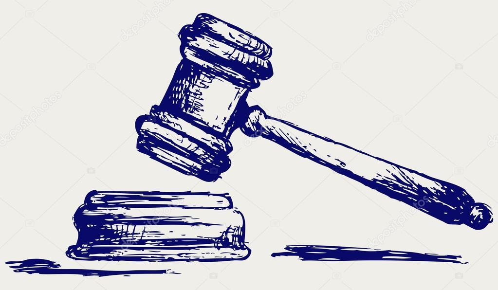 1023x596 Judge Gavel Sketch Stock Photo Kreativ