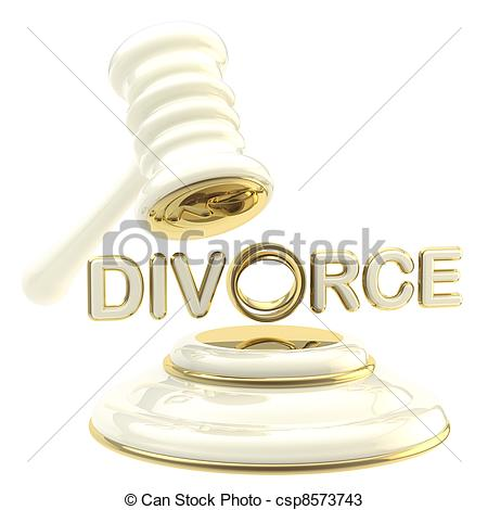 450x470 Divorce Under The Judge Gavel Isolated. Divorce And Break Up