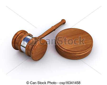 450x357 Judge Gavel On The White Background (3d Render) Stock