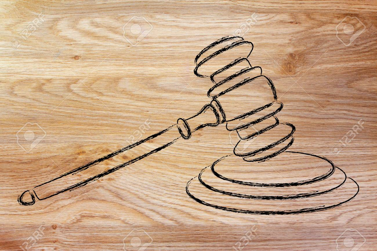 1300x866 Judges Gavel Design, Concept Of Respecting The Law Stock Photo