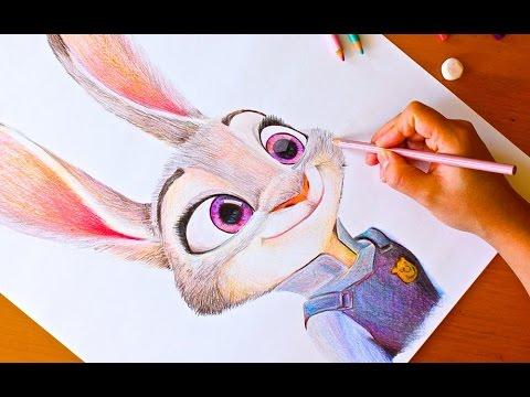 480x360 Drawing Judy Hopps Zootopia Budget Art