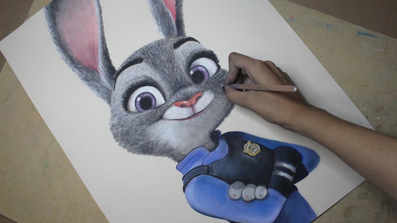 1280x720 Speed Drawing Judy Hopps (Zootopia) Diana