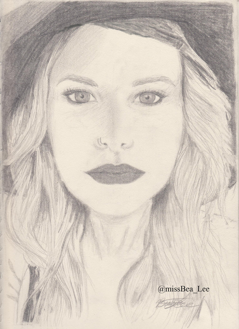 763x1048 Juliet Simms Pencil And Paper Drawing By Missbealee
