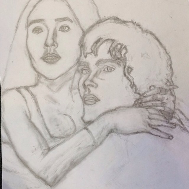 640x640 Romeo And Juliet 1968 Movie Drawing By Missheyhiho