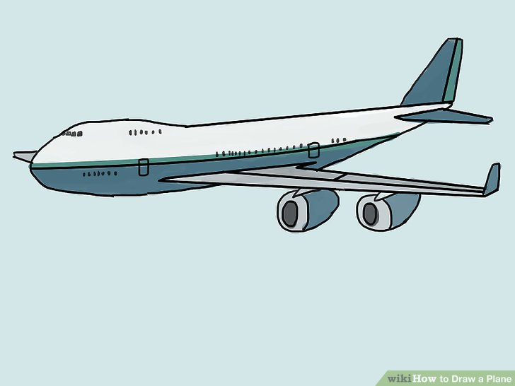 728x546 4 Ways To Draw A Plane