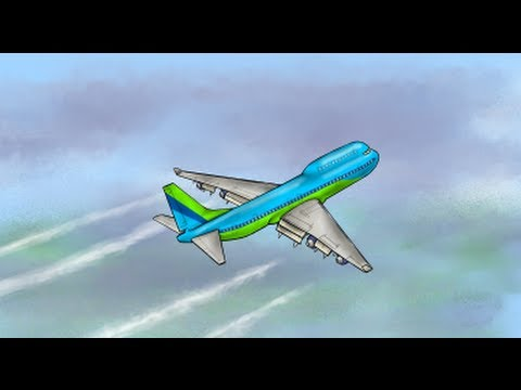 480x360 Boeing 747 Jumbo Jet Digital Speed Drawing Painting Made
