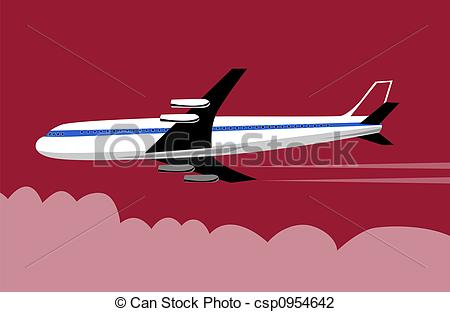 450x312 Jumbo Jet Plane. Artwork On Air Travel Clip Art