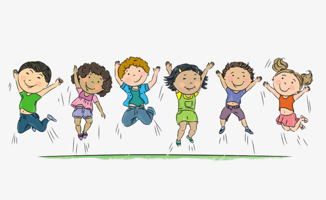 650x400 Jump Up, Boys!, Cartoon Hand Drawing, Decorate, Motion Png Image