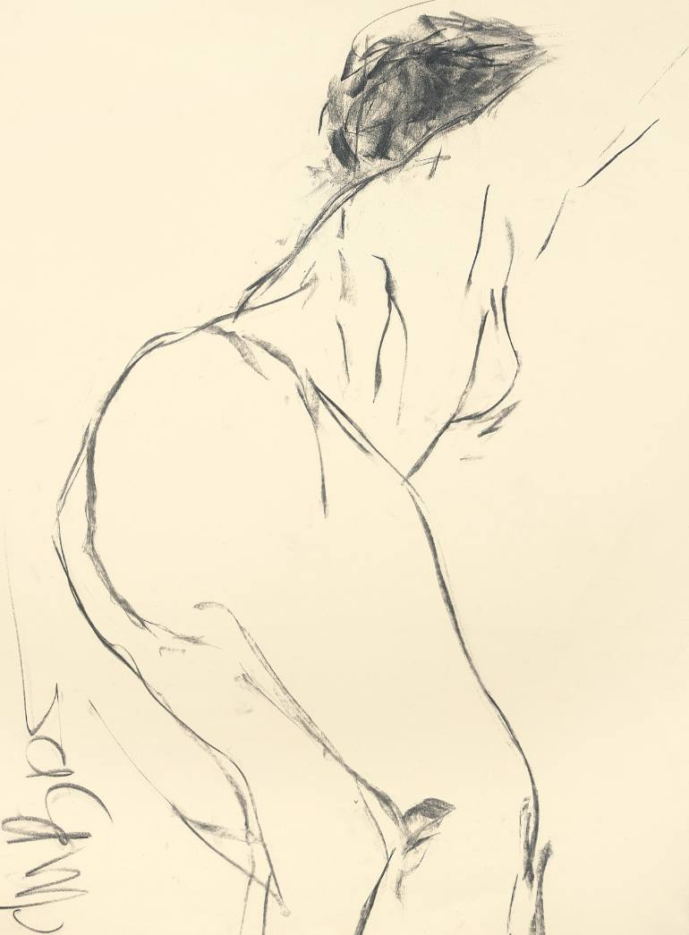 770x1045 Saatchi Art Jump Drawing By Jane Du Brin