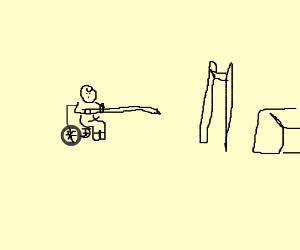 300x250 Wheelchair Pole Jump (Drawing By Luca Tagliabue)