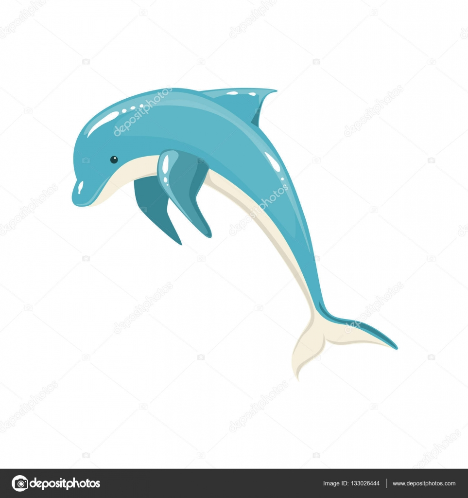 963x1024 Blue Bottlenose Dolphin Jumping For Entertainment Show, Realistic